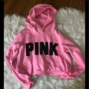 PINK cropped pink sweatshirt 💕 size small
